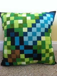 Minecraft Inspired Diamond Sword Throw Pillow by ...