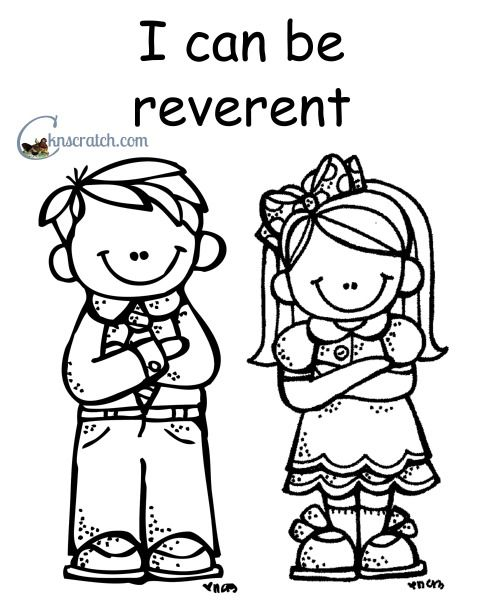 I Can Be Reverent Coloring Page Coloring Pages