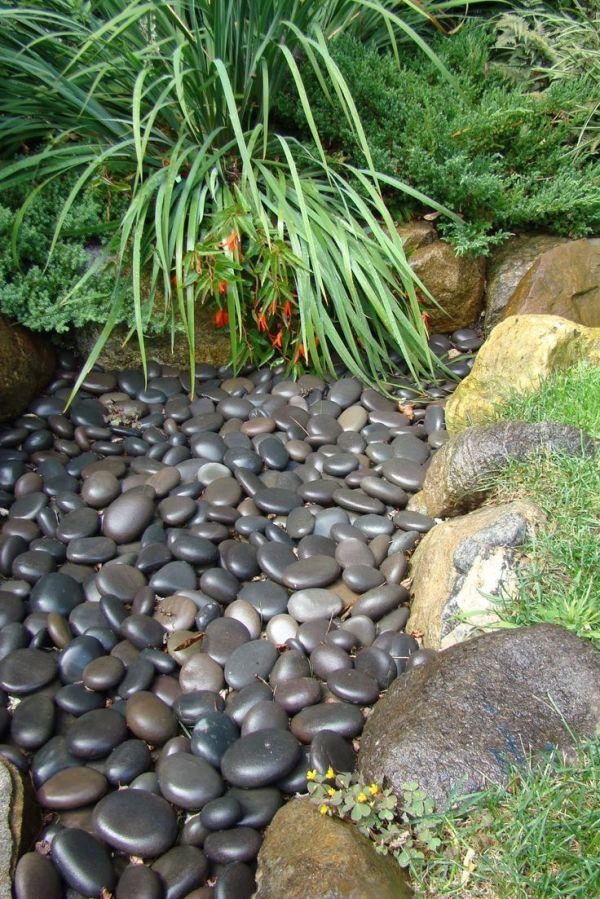"""yard side garden. """"rock"""" garden"""
