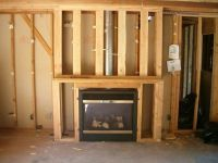 how to frame in a gas fireplace | Framing for Fireplace ...