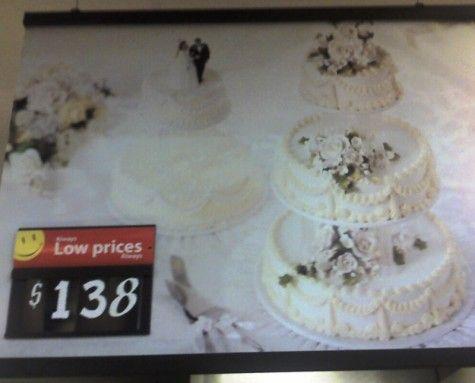 Walmart Wedding Cake Cake And Other Treats Pinterest