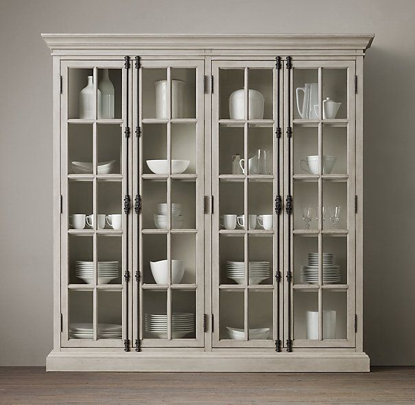French Casement 4Door Cabinet  Restoration Hardware