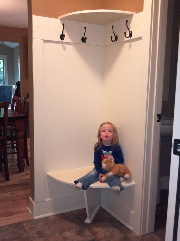 Corner Bench and Shelf for small mudroom  For the Home  Pinterest  An 2 and Front doors