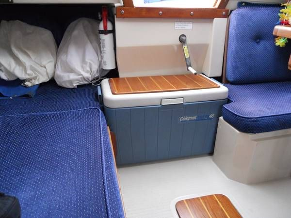 Ice Chest As Companionway Step