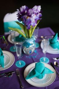 53 best Purple, royal blue and turquoise wedding images on