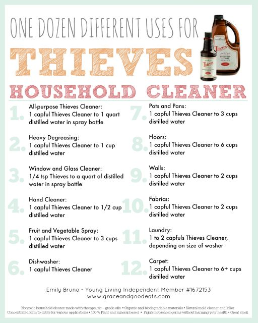 Cleaning Using Thieves Household Cleaner  Young living