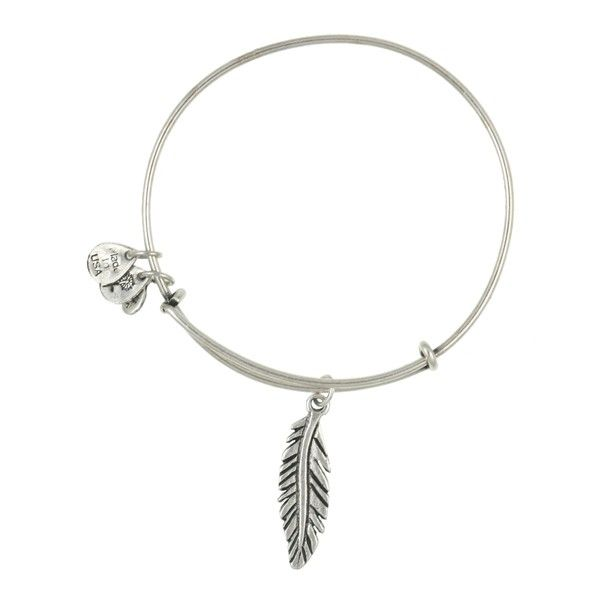 Women's Alex and Ani 'Feather' Expandable Wire Bangle