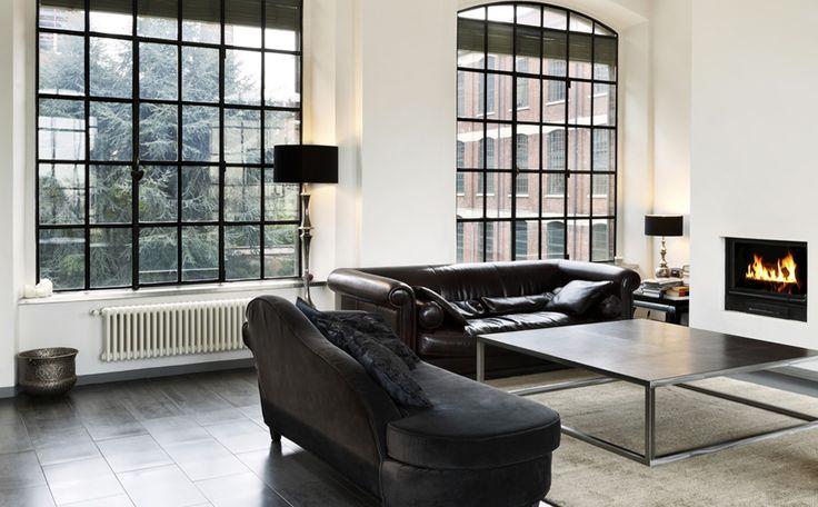 Klassiek zwart wit interieur  KLEUR Lichtdonker