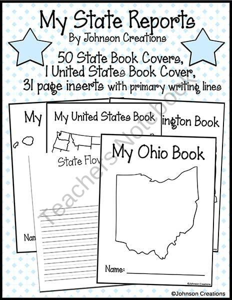 State Reports From Johnson Creations On TeachersNotebook