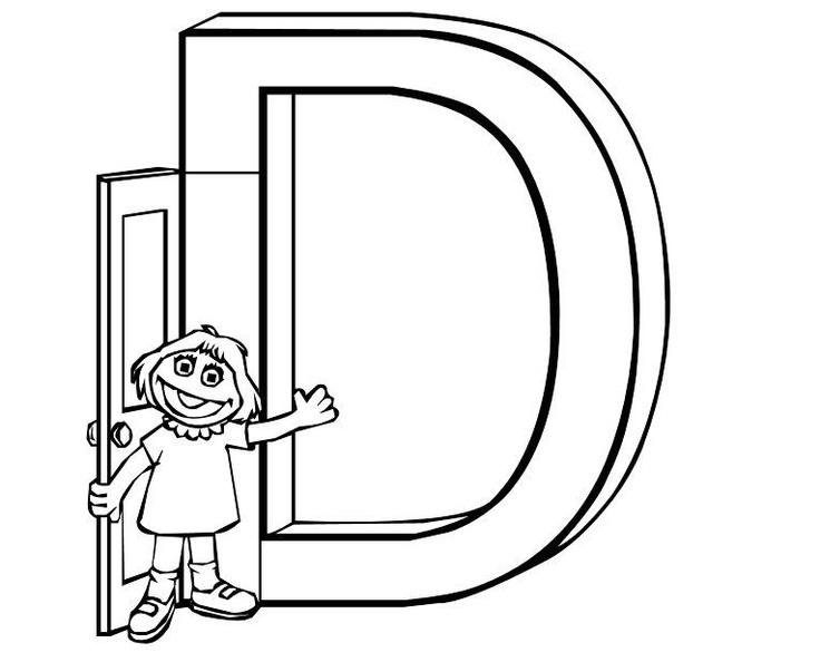 New Custom Screen Printed Tshirt D Sesame Street Alphabets