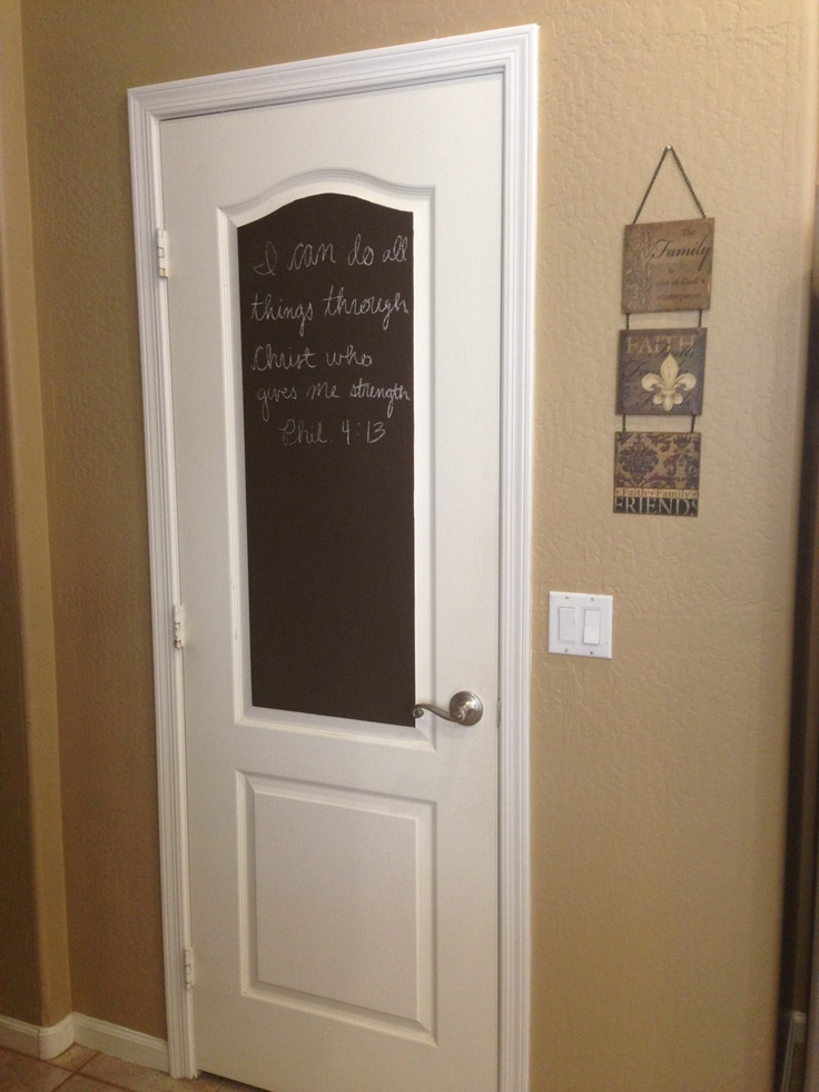 Chalk paint on my pantry door #diylove