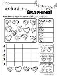 Valentine Math Worksheets 1st Grade - read like a rock ...