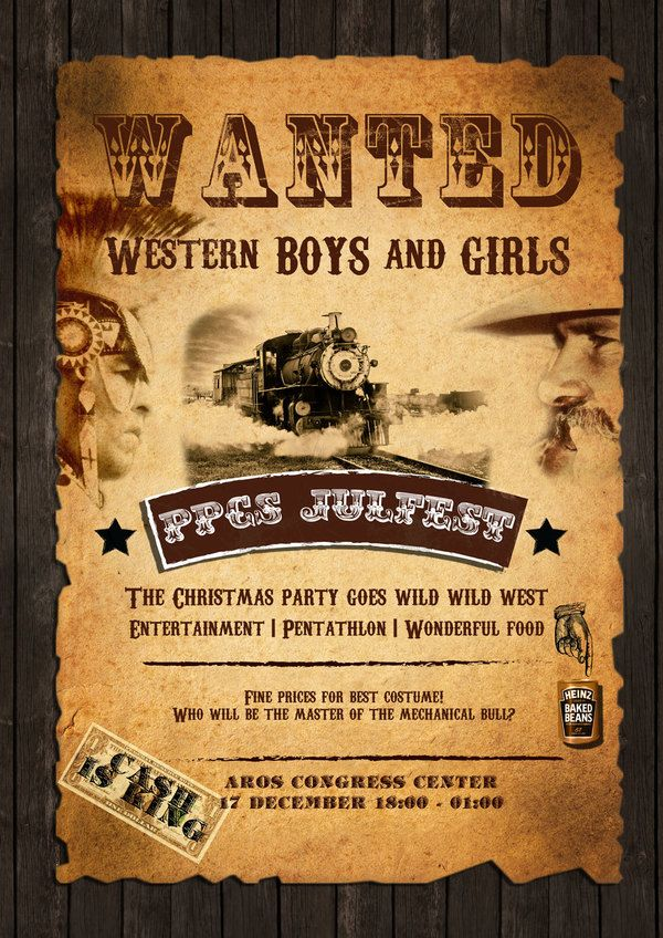 OLD WEST PARTY INVITATIONS To Be Inline With The