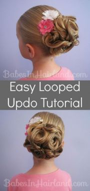ideas kids updo hairstyles