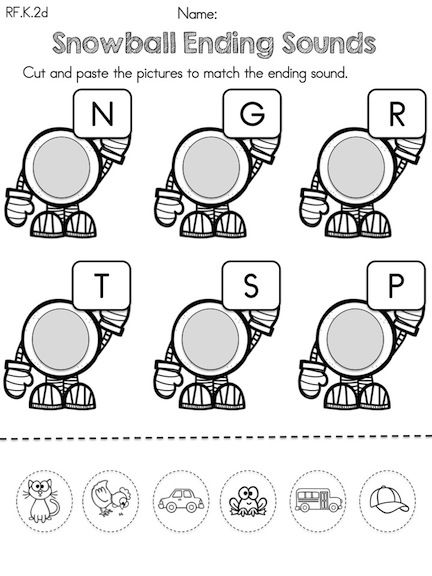Kindergarten Winter Literacy Worksheets (Common Core