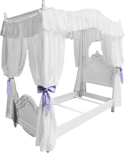 Details About FC38 GIRLS TWIN SIZE PRINCESS BED DRAPE CANOPY