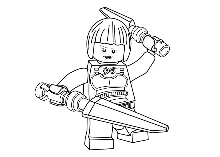 Princesse Nya coloring page for girls, Ninja go coloring