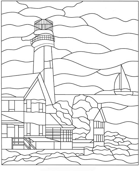 17 Best Images About Stained Glass Lighthouses On