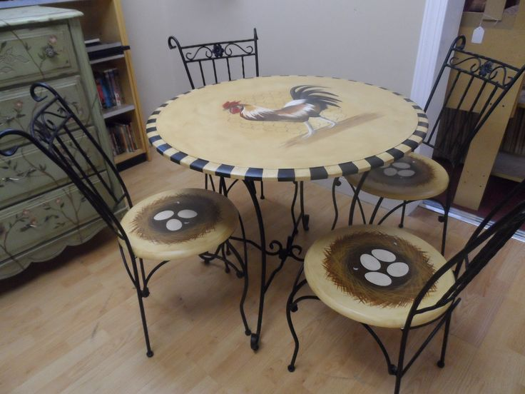 french country rooster table with nest chairs my most