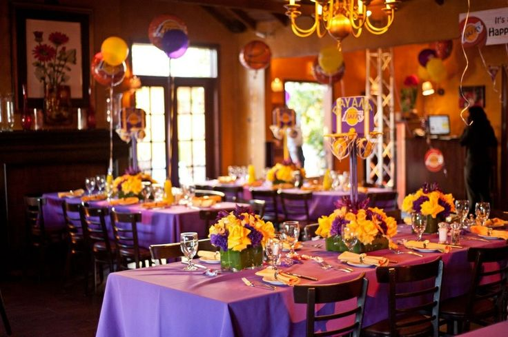 Lakers theme party  Daddys 25th Birthday  Pinterest  Theme parties and Parties
