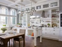 high cabinets & coffered ceiling | Kitchen Remodel Ideas ...