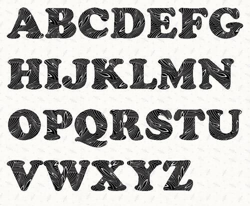 Alphabet Cooper Black 3 inch template Printable letters