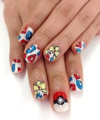 Pokemon nail art!! Not sure who's original nails these r ...