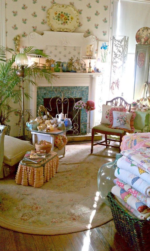 Vintage Country Living Room home vintage country decorate