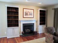 Custom bookcases made to fit on either side of fireplace ...