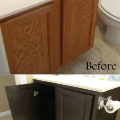 Diy Refinish Kitchen Cabinets Table Island Refinishing Cabinets! A Must Pin! Quick Make-over For Any ...