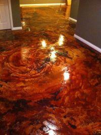 acid stain concrete blue - Google | http://floor-design ...