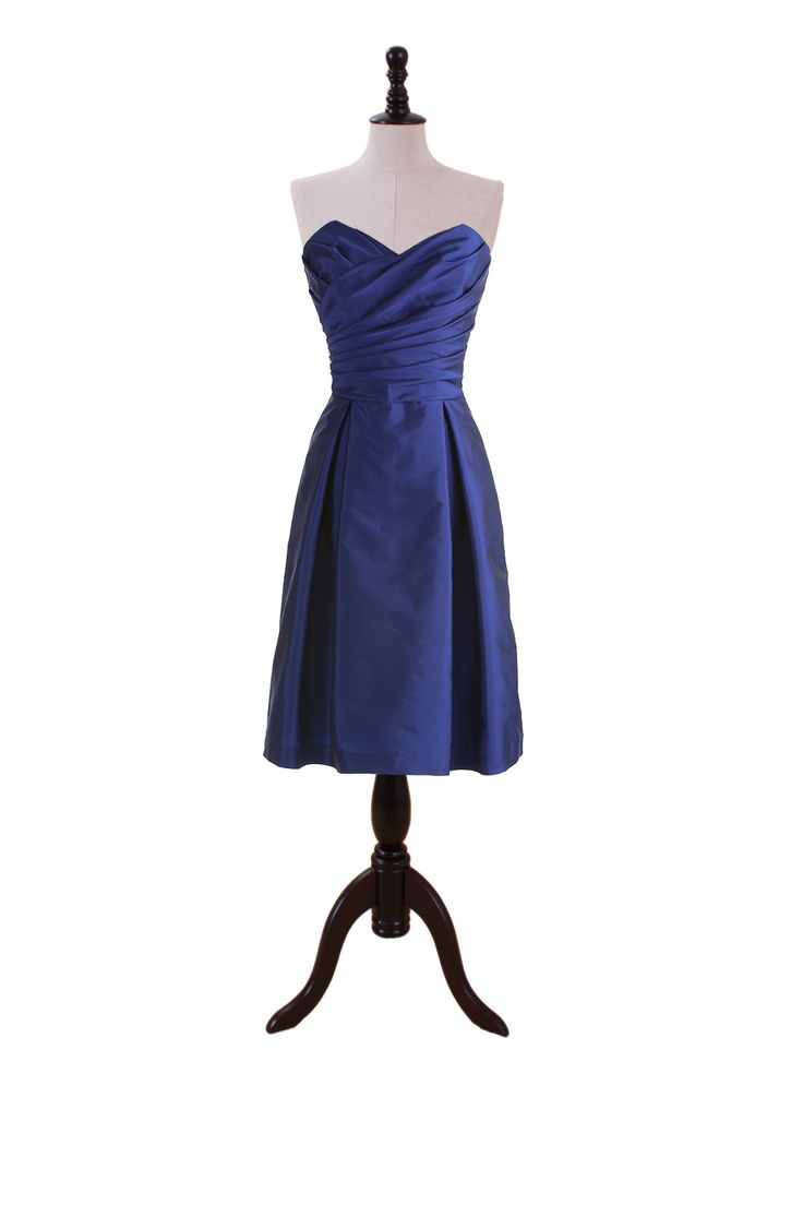Sweetheart Dress with Pleated Crossover Bodice