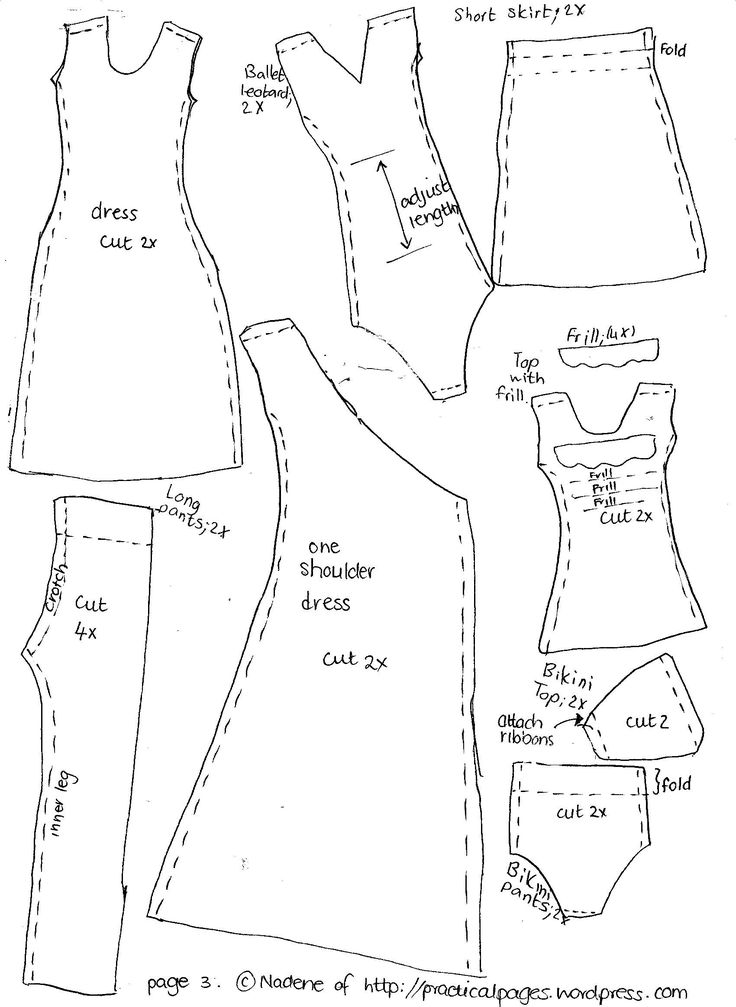 46 best Free Barbie sewing patterns images on Pinterest