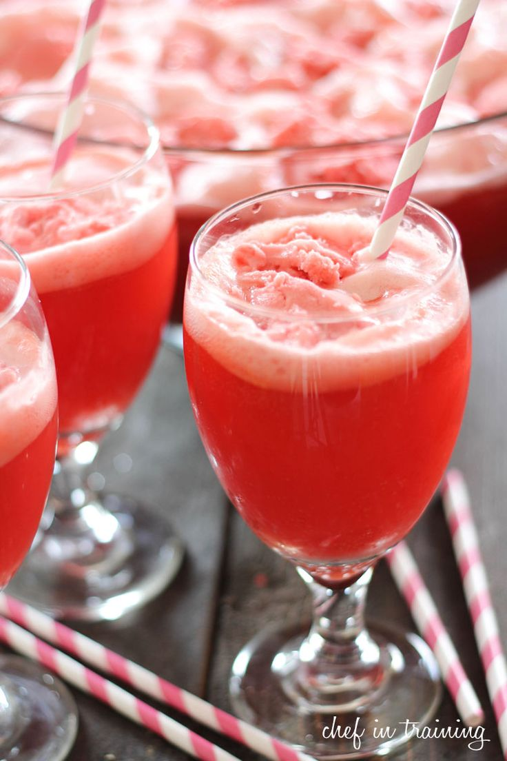 Party Punch!… only 3 ingredients! It is simple, delicious and a crowd pleaser!