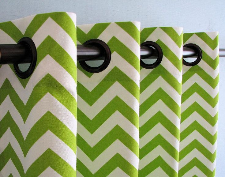 1000 Images About Chevron Green Curtains To Get You Close To