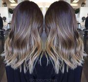 medium length ombre hair