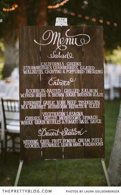 25 Best Ideas About Wedding Menu Display On Pinterest Buffet