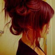 red hair color cute bun