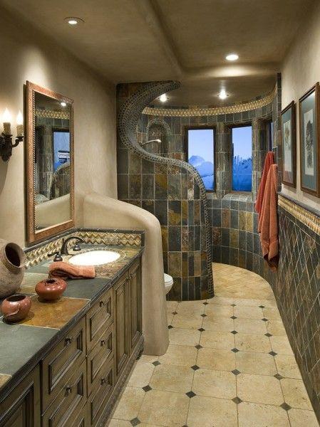 doorless WalkIn Showers with bench  Doorless Walk In Shower  Flying I Ranch  Pinterest