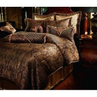 Luxury Designer Comforter Sets | ... Manchester Gold Black ...