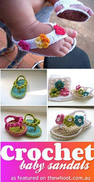 crochet kids sandals