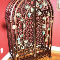 Wine Rack In Living Room Table Behind Couch Wrought Iron | Specialty Products ...