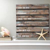 Wood pallet wall art decor with a coastal theme: http ...