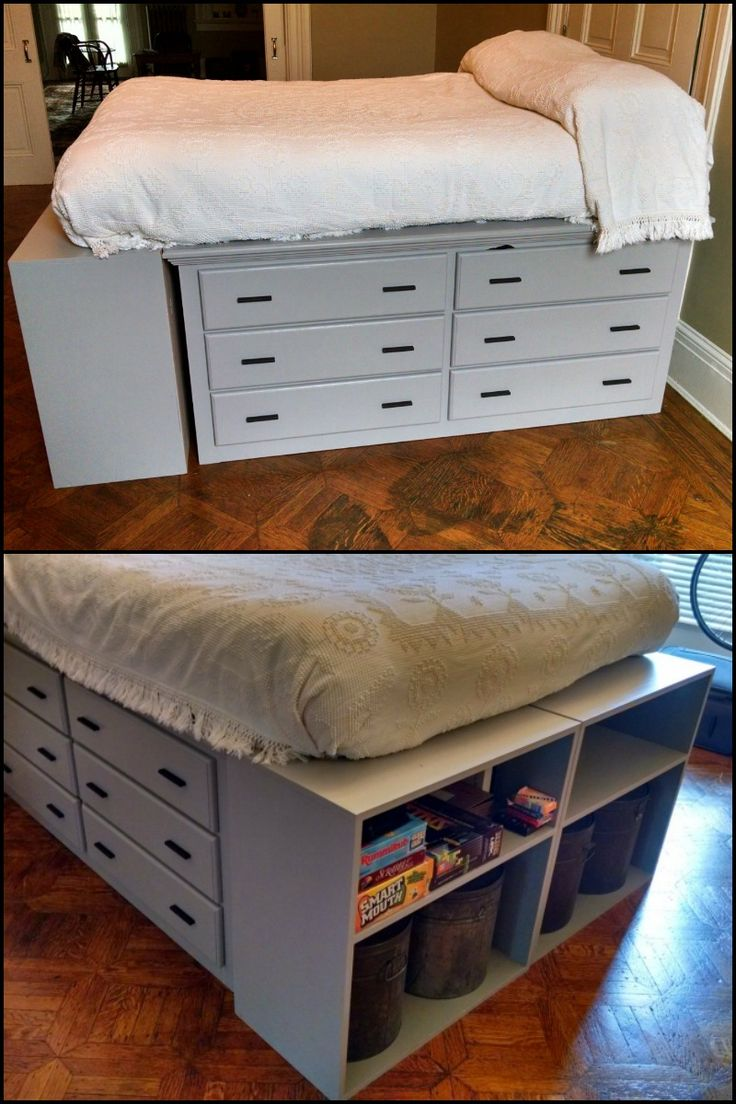 25 best ideas about Dresser Bed on Pinterest  Bed with storage under Ikea beds with storage