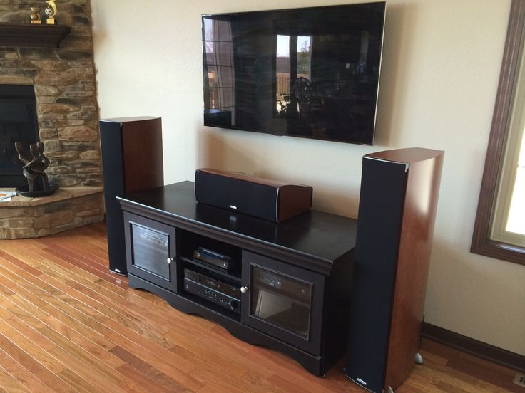 Premium home theater system with wallmounted flat panel
