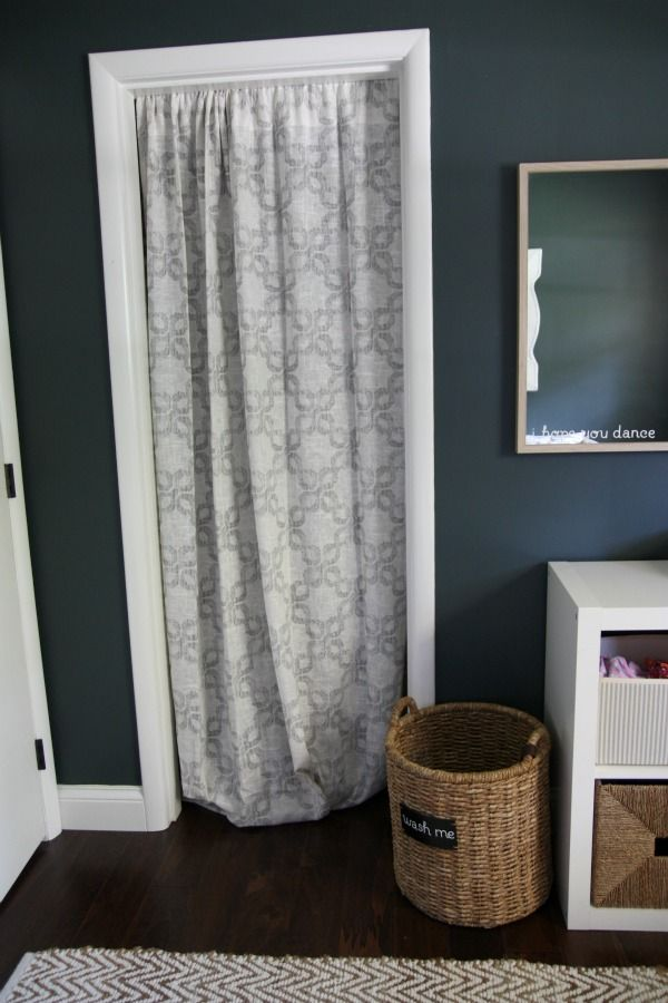 Curtain instead of closet doorI love this because all 5