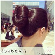 sock bun trouble rolling