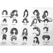 famous #hair #styles #illustration