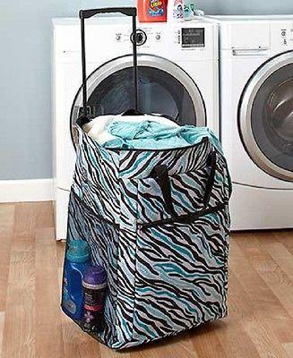 Laundry Hamper Portable Rolling Basket Bag Dorm Clothes Storage Sort Organize  Products