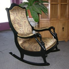 How To Diy Reupholster A Chair And Accessories Refinished Early 1900s Gooseneck Rocker | Home Sweet Pinterest Rockers